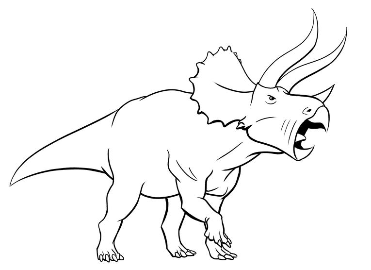Triceratops outline