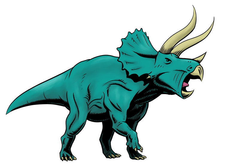 Triceratops colored